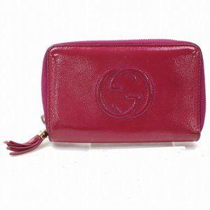 Authentic Gucci Wallet Rose Enamel